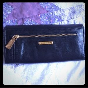 Rebecca Minkoff black leather wallet